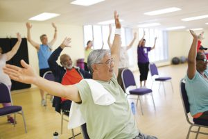 Active older adults group fitness