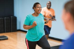 Cardio group fitness workout